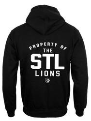STL ATC Fleece Full Zip Hooded Men's Sweatshirt - Black