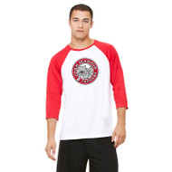 JMS All Sport Unisex Baseball T-Shirt - White/Red (JMS-013-WR)