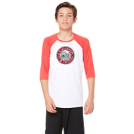 JMS All Sport Youth Baseball T-Shirt - White/Red (JMS-048-WR)