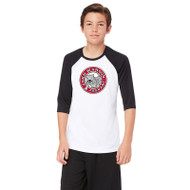 JMS All Sport Youth Baseball T-Shirt - White/Black (JMS-048-WB)