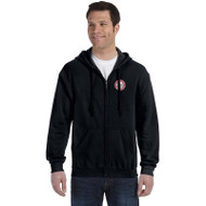 JMS Gildan Heavy Blend Adult Full Zip Hooded Sweatshirt - Black (JMS-014-BK)