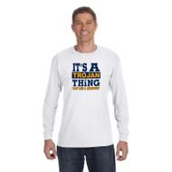 BCS Gildan Men's Heavy Cotton Long Sleeve T-Shirt - White (BCS-011-WH)