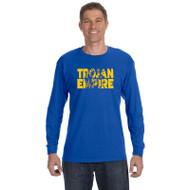 BCS Gildan Men's Heavy Cotton Long Sleeve T-Shirt - Royal (BCS-015-RO)