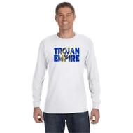 BCS Gildan Men's Heavy Cotton Long Sleeve T-Shirt - White (BCS-015-WH)