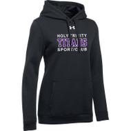 HTT Under Armour Women's Hustle Fleece Hoody - Black (HTT-021-BK)