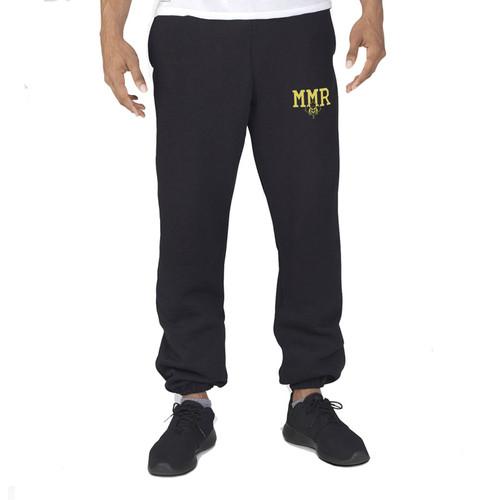 MMR Russell Men's Dri-Power Closed-Bottom Pocket Sweat Pant - Black (MMR-012-BK)