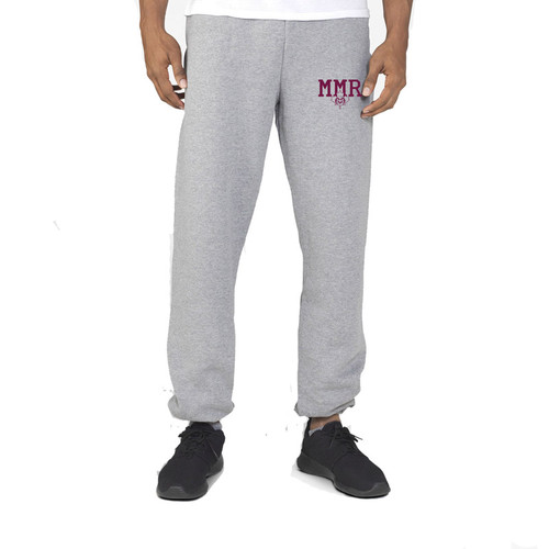 Russell Men's Dri-Power Closed-Bottom Pocket Sweat Pant - Oxford Grey (MMR-012-OX)