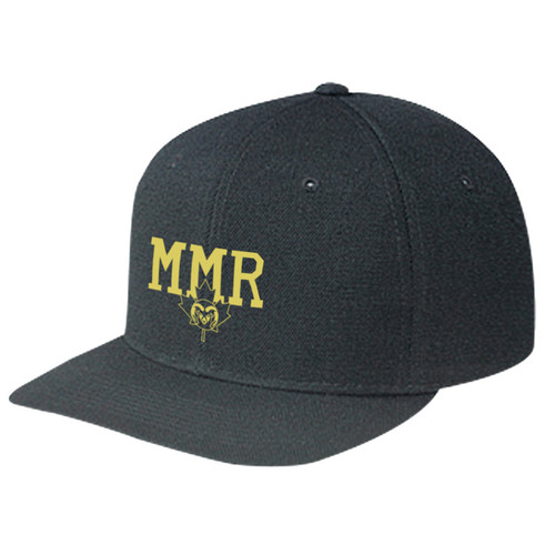 MMR Wool Serge Snapback Baseball Cap - Black (MMR-051-BK-OS)
