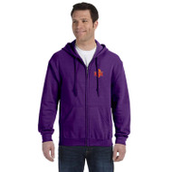 MSP Gildan Adult Heavy Blend 50/50 Full-Zip Hoody - Purple (MSP-015-PU)