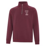 SMO ATC Vintage 1/4 ZIp Sweatshirt - Cardinal Heather