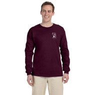SMO Gildan Adult Ultra Cotton Long Sleeve T-Shirt - Maroon (SMO-015-MA)