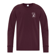 SMO ATC Everyday Cotton Long Sleeve Youth Tee - Maroon (SMO-049-MA)