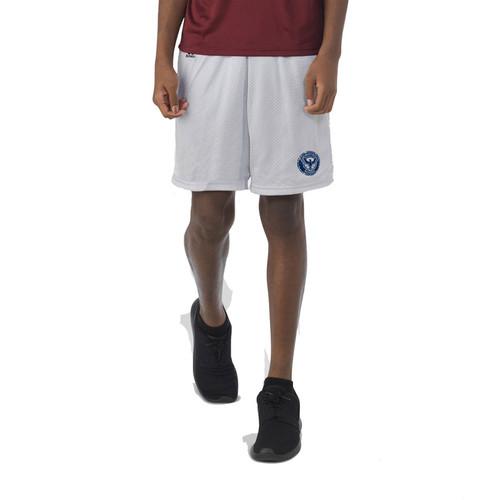 KSS Russell Youth Dri-Power Mesh Shorts - Gridiron Silver (KSS-050-GS)