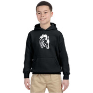 WJH Gildan Youth Heavy Blend 50/50 Hoody - Black (WJH-046-BK)