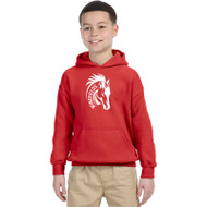 WJH Gildan Youth Heavy Blend 50/50 Hoody - Red (WJH-046-RD)