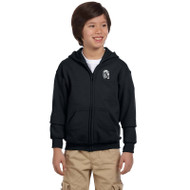 WJH Gildan Youth Heavy Blend 50/50 Full-Zip Hoody - Black (WJH-047-BK)