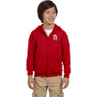 WJH Gildan Youth Heavy Blend 50/50 Full-Zip Hoody - Red (WJH-047-RE)