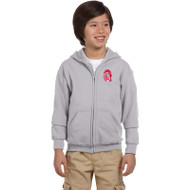 WJH Gildan Youth Heavy Blend 50/50 Full-Zip Hoody - Sport Grey (WJH-047-SG)
