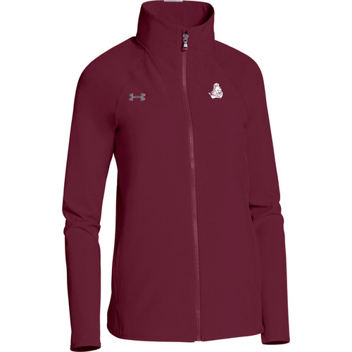 BCI Under Armour Women's Squad Woven Warm-Up Jacket - Maroon (BCI-103-MA)