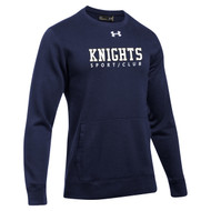 BCI Under Armour Men's Hustle Fleece 2.0 Crew Pullover - Navy (BCI-106-NY)