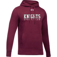 BCI Under Armour Men's Hustle Fleece Hoodie - Maroon (BCI-108-MA)