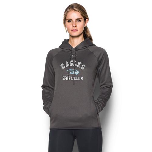 SMC Under Armour Women's Double Threat Fleece Hoody - Carbon (SMC-024-CB)