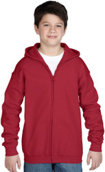 Peel DSB Gildan 18600 Ultra Blend Youth Full Zip Hooded Sweatshirt (XS-XL) - Various Colours