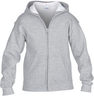 Peel DSB Gildan 18600 Ultra Blend Youth Full Zip Hooded Sweatshirt (XS-XL) - Sports Grey