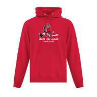 HCP ATC Men's Everyday Fleece Hooded Sweatshirt - Red (HCP-101-RE)