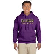 EDH Gildan Heavy Blend 1850 Adult Hooded Sweatshirt - Purple (EDH-052-PU)