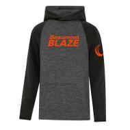 BEA ATC Youth Dynamic Heather Fleece Two Tone Hooded Sweatshirt - Charcoal Dynamic