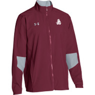 BCI Men's Under Armour Squad Woven Warm-Up Jacket - Maroon (BCI-110-MA)