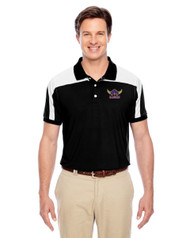 EDH Team 365 Men's Victor Performance Polo - Black/White
