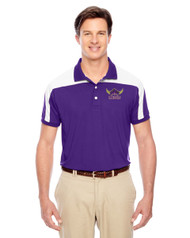 EDH Team 365 Men's Victor Performance Polo - Purple/White