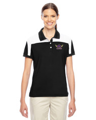 EDH Team 365 Ladies' Victor Performance Polo Black/White