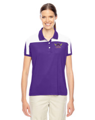 EDH Team 365 Ladies' Victor Performance Polo Purple/White