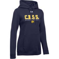 CKS Under Armour Women's Hustle Fleece Hoodie - Navy (CKS-201-NY)