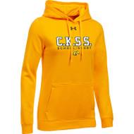 CKS Under Armour Women's Hustle Fleece Hoodie - Gold (CKS-201-GO)