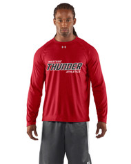Feather Hill Under Armour Mens Long Sleeves Locker Tee - Red