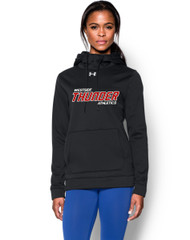 Feather Hill Under Armour Ladies Storm Fleece Team Hoodie - Black