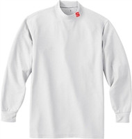 SCA Adult Long Sleeve Mock Neck Shirt - White