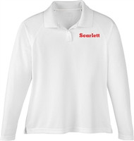 SCA Ladies Long Sleeve Polo Shirt - White