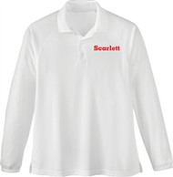 SCA Men's Long Sleeve Polo Shirt - White
