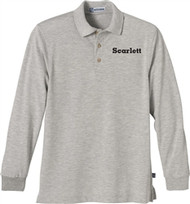 SCA Adult Long Sleeve Polo Shirt - Grey