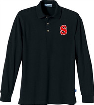 SCA Adult Long Sleeve Polo Shirt - Black