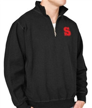 SCA 1/4 Zip Megaweight Fleece Pullover - Black