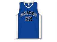 OECM Athletic Knit AK-SHEEN Pro Cut with Side Inserts Jersey - Blue