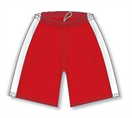 OECM Athletic Knit DRY-FLEX Ladies Volleyball Shorts with Side Insert - Red