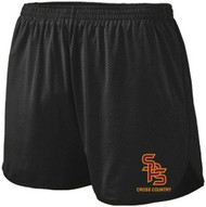 SPC  Adult Split Mesh Track Short - Black