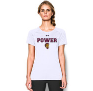 MPS Under Armour Ladies Short Sleeve Locker Tee - White